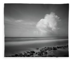Fleece Blanket featuring the photograph Rocky Shoreline by Todd Aaron