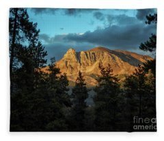 Rocky Sunset Fleece Blanket