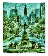Rocky's View Fleece Blanket