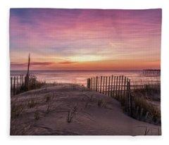 Rodanthe Sunrise Fleece Blanket
