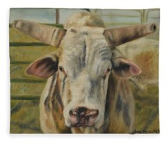 Rodeo Bull 2 Fleece Blanket