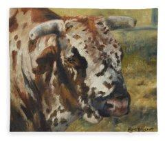 Rodeo Bull 7 Fleece Blanket
