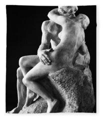 Rodin: The Kiss, 1886 Fleece Blanket
