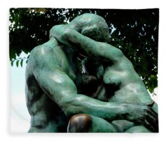 Rodin The Kiss Fleece Blanket