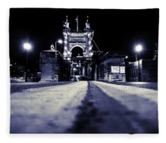 Roebling Suspension Bridge Fleece Blanket