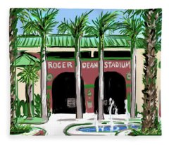 Roger Dean Stadium Fleece Blanket