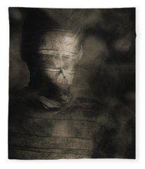 Rollie The Smoking Mummy Fleece Blanket