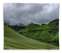 Rolling Green Drakensberg Mountains Fleece Blanket