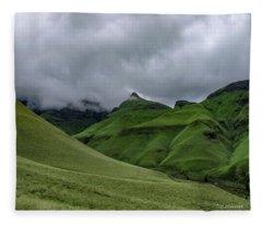Rolling Green Drakensberg Mountains Fleece Blanket