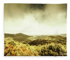 Rolling Hills Of The Tarkine, Tasmania Fleece Blanket