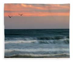 Rolling Waves Fleece Blanket