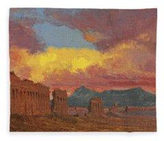 Roman Aqueduct Fleece Blanket