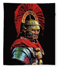 Roman Centurion Portrait Fleece Blanket