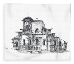 Roman Church At Chamalieres Fleece Blanket
