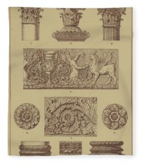 Roman, Ornamental Architecture And Sculpture Fleece Blanket