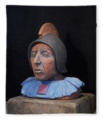 Roman Warrior Roemer - Roemer Nettersheim Eifel - Military Of Ancient Rome - Bust - Romeinen Fleece Blanket