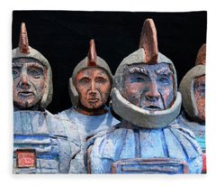 Roman Warriors - Bust Sculpture - Roemer - Romeinen - Antichi Romani - Romains - Romarere Fleece Blanket