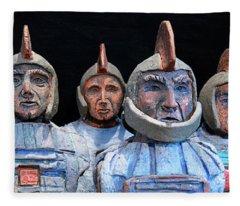 Roman Warriors - Bust Sculpture - Roemer - Romeinen - Antichi Romani - Romains - Romarere Fleece Blanket