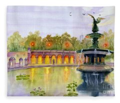 Romance At Central Park Nyc Fleece Blanket