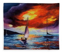 Romancing The Sail Fleece Blanket