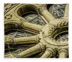 Romanesque Wheel Fleece Blanket