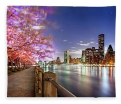 Romantic Blooms Fleece Blanket
