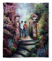 Romantic Landscape Fleece Blanket