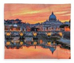 Rome And The Vatican City - 01  Fleece Blanket