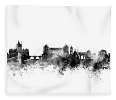 Rome Italy Skyline 4x5 Ratio Fleece Blanket