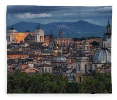 Rome Twilight Fleece Blanket