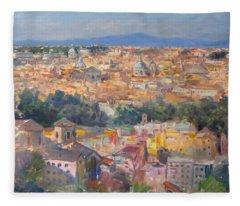 Rome View From Gianicolo Fleece Blanket