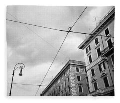 Rome's Downtown Cable Sky Fleece Blanket