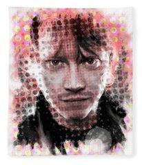 Ron Weasley Halftone Portrait Fleece Blanket