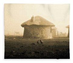 Rondavel In Lesotho Fleece Blanket