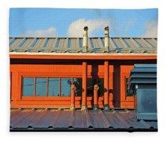 Roofline Geometry Fleece Blanket