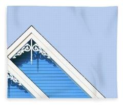 Rooftop Detail With Decorative Fretwork Fleece Blanket