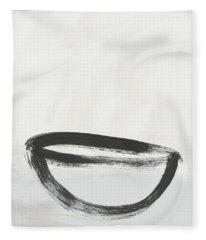 Room To Receive 1- Zen Abstract Art By Linda Woods Fleece Blanket