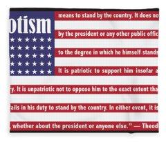 Roosevelt Patriotism Fleece Blanket