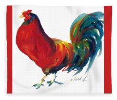 Rooster - Little Napoleon Fleece Blanket