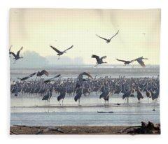 Roosting On The Platte Fleece Blanket