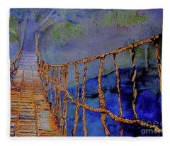 Rope Bridge Fleece Blanket