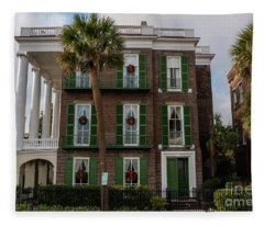 Roper Mansion In December Fleece Blanket