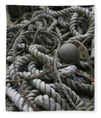 Ropes And Lines Fleece Blanket