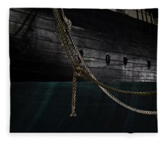 Ropes On The Uss Constellation Navy Ship Fleece Blanket