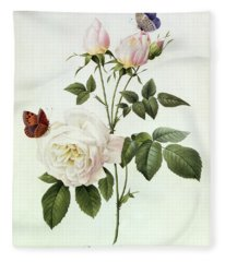 Rosa Bengale The Hymenes Fleece Blanket
