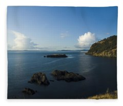 Rosario Strait Near Anacortes Fleece Blanket