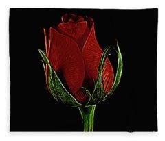 Rose 123 Fleece Blanket