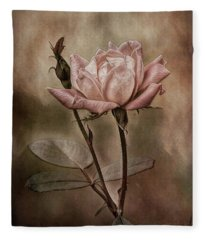 Rose 3 Fleece Blanket