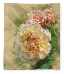 Rose 3 Fleece Blanket
