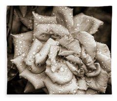 Rose After The Rain Fleece Blanket